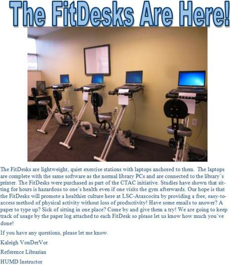 Health-Targeting Cultural Hubs - The LSC-Atascocita Library & Learning Center Installed FitDesks