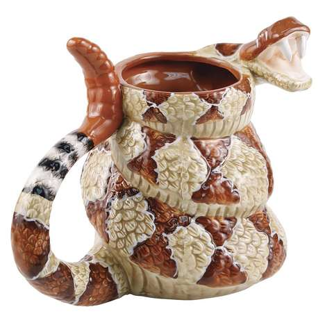 Venomous Talk Show Mugs - Pour Yourself a Cup of Joe in Your Rattlesnake Coffee Mug