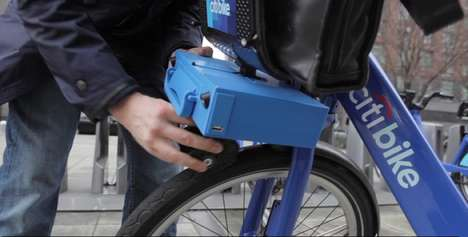 Lightweight Turbo Bike Kits - ShareRoller by Jeff Guida Gives a Boosts to City Bicycle Share Systems