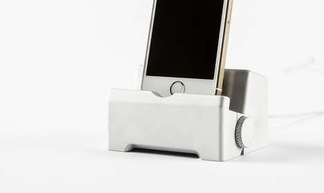 Workbench Smartphone Stands - The Infinity Dock Comprises a Screw Vice to Hold Your Charger Firmly
