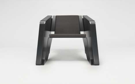 Creased Metal Seating - The Vik Armchair Has Been Bent into Shape from a Stiff Flat Sheet