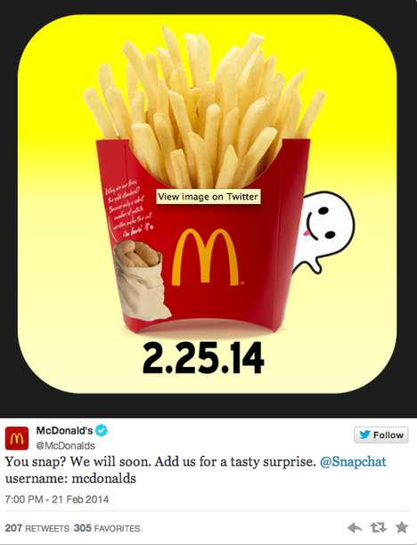 Fast Food Launching Snaps - The McDonald's Snapchat Account Will Feature LeBron James