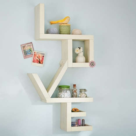 Affectionate Shelving Units - The Love Shelf Will Send Guests the Right Message