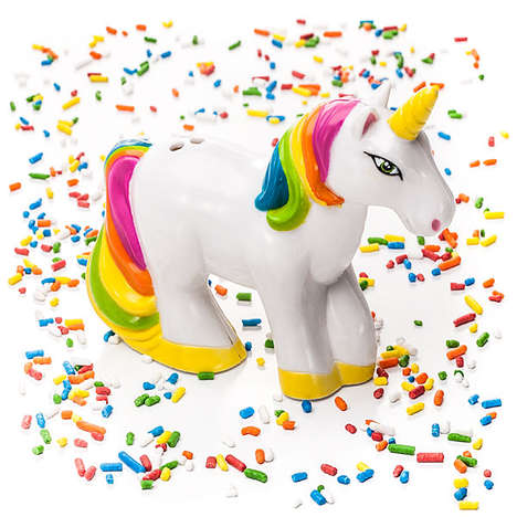 Unicorn-Shaped Sprinkle Shakers - The Unicorn Sprinkle Shaker is Fairy-Tale Inspired