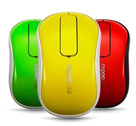 Vibrant Wireless Touch Mouses - The Vibrantly Colored Rapoo Wireless Touch Mouse is Speedy