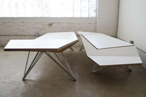 Bendable Origami Benches - An Origami Seating Arrangement is Casual and Customized