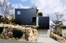 Rugged Terrain Houses - Shogo Aratani Architect & Associates Designs a Contemporary Home in Japan