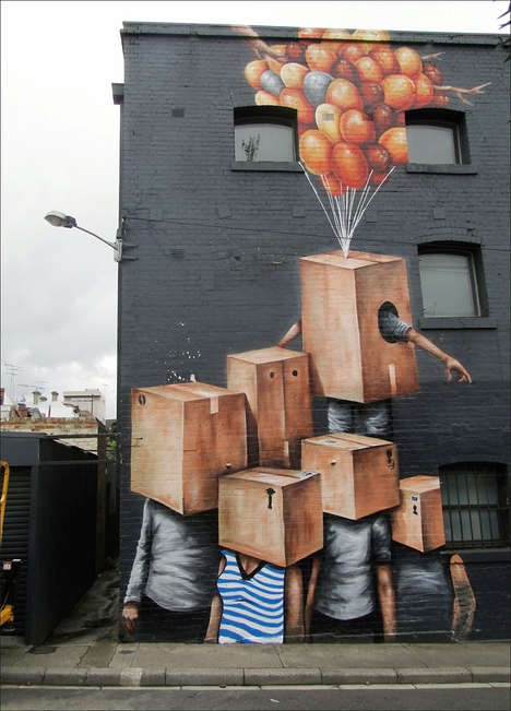 Surreal City Murals - Artist Fintan Magee Creates Surreal Murals That Focus on Living Things