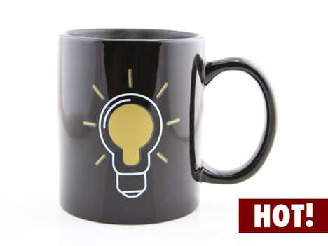 Luminous Heat-Sensitive Cups - Watch as the Smart Bulb Heat Change Mug Lights Up