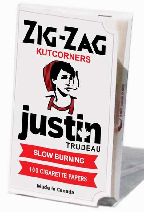 Politician-Inspired Smoking Papers - The Justin Trudeau Rolling Papers Oddly Honor the Young Leader