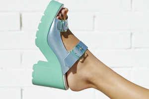 The Miista Rachel Platform Sandal is a Pastel Masterpiece