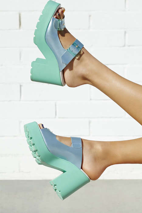 Chic Pastel Platfrom Sandals - The Miista Rachel Platform Sandal is a Pastel Masterpiece