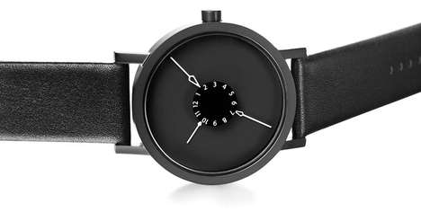 Inward Arrow-Pointing Timepieces - The Nadir Unisex Watch Points Inwards With Embellished Arrow Head
