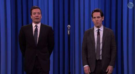 Lip Syncing Comedic Battles - Paul Rudd and Jimmy Fallon Duke it Out Lip Syncing on the Tonight Show
