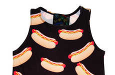 Chic Street Meat Attire - The Hot Dog Crop Tank from Shop Jeen is Retro-Inspired