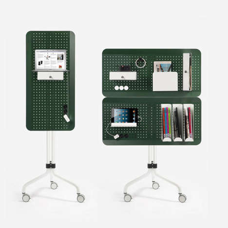 Peg-Board Office Systems - The Island Office Element Keeps You Tidy and Focused