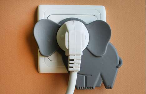 Animalia Electrical Accessories - Elephant in the Room Brings Playfulness to Dull Interior Features