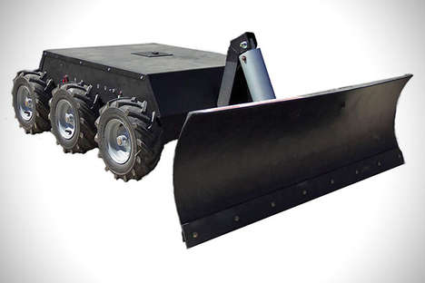 Remote Control Snow Plows - Plow Your Way Through Winter with This Durable Snowbot
