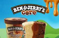 Center-filled Ice Creams - Ben and Jerry Core Ice Creams are Jam-Packed with Delectable Centers