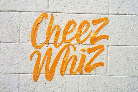 Condiment-Crafted Wall Art - Public Wall Art with Household Condiments Creates an Interesting Visual