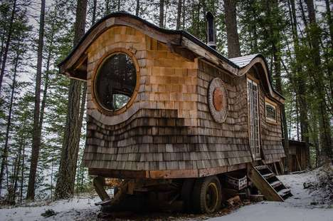 Tiny Enchanting Forest Homes - This Gypsy Wagon Has Been Turned Into a Whimsical Tiny Home