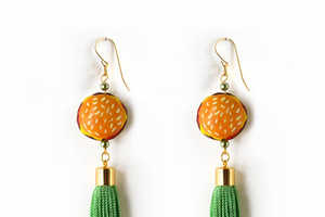 The Foodie Tassel Earrings by Nophar Haimovitz are Humorous