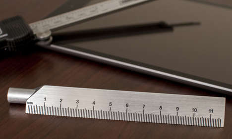 Ruler-Encased Utensils - Utilitarian Tech Force Pen Has a Sleek Design and a Supplementary Sleeve