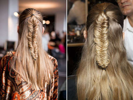 Nomadic Rugged Braid Hairstyles - Himalayan Fishtail Braids are Creating Waves on Fashion Runways