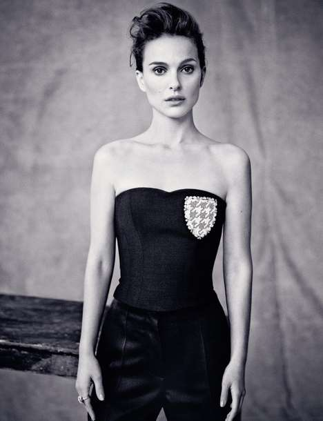 Statuesque Celeb Portrait Photos - Natalie Portman Shows Us How French Chic is Done in Dior Magazine
