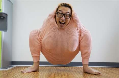 Bizarre Chicken Transformations - Blogger Mr. Sebuyama Turns His Sweater into a Chicken Costume
