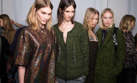 Down-Played Sequin Sartorials - The No. 21 Fall 2014 Collection Balances Boring and Fun Seamlessly