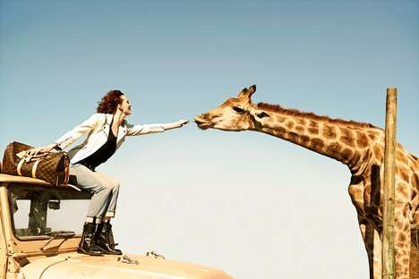 South Africa Couture Campaigns - The Louis Vuitton Spring Campaign is Inspired by Nature and Travel