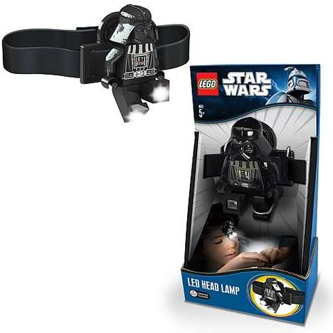 Mini Movie Villain Lights - The LEGO Darth Vader Head Lamp Offers a Wicked Source of Illumination