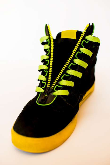 Lace-Tying Eliminators - ZIPPEDs Allows You to Put on and Take Off Your Shoes with Absolute Ease
