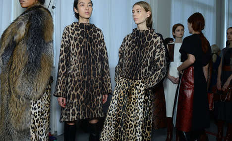 Tweed Adapted Attires - The Sportmax Fall 2014 Collection Features Fierce Prints