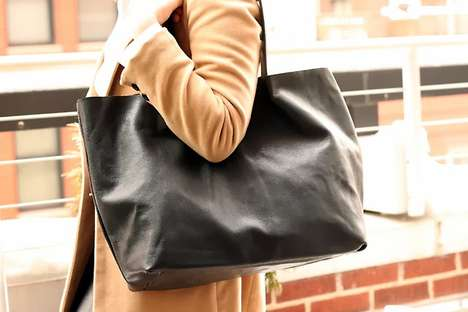 Minimalist Leather Tote Tutorials - This DIY Leather Handbag is Perfect for Fashionistas on a Budget