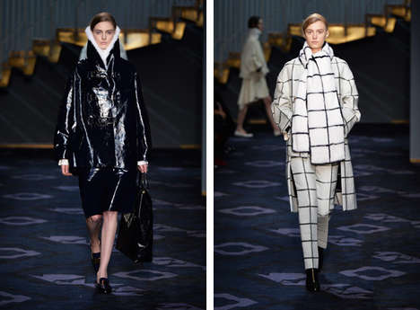 Slinky Outerwear Runways - The Tods Fall 2014 Collection Features Indulgent Details