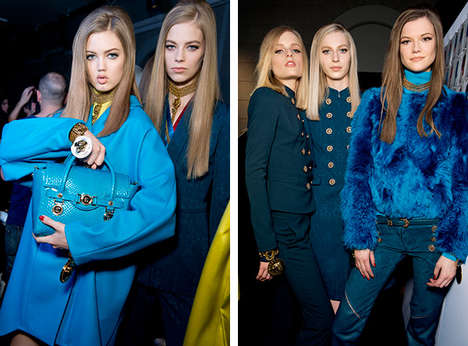 Buttoned-Bodice Collections - The Versace Fall 2014 Collection Takes Cues From the Military