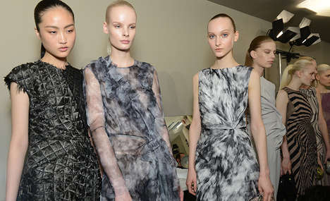 Dramatic Topography Fashions - This Bottega Veneta Fall Collection Looks to Nature for Inspiration