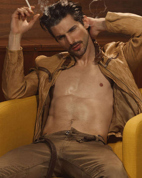 Stylish Bad Boy Editorials - Model Stefan Knezevic Stars in This Sleek Men's Editorial