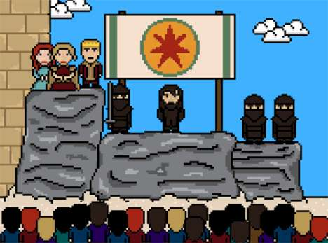 Brutally Murdered Pixelated GIFs - Remember Those Who Died on Game of Thrones with These 8-bit GIFs