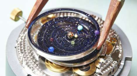 Luxe Planetary Timepieces - The Solar System Watch is Truly Out of This World in Terms of Style