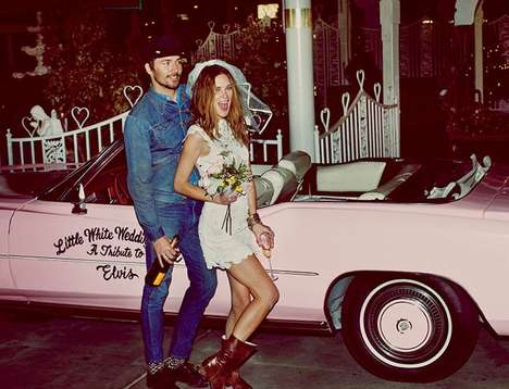 Vegas Wedding Lookbooks - The Free People Catalog Stars a Lovestruck Erin Wasson