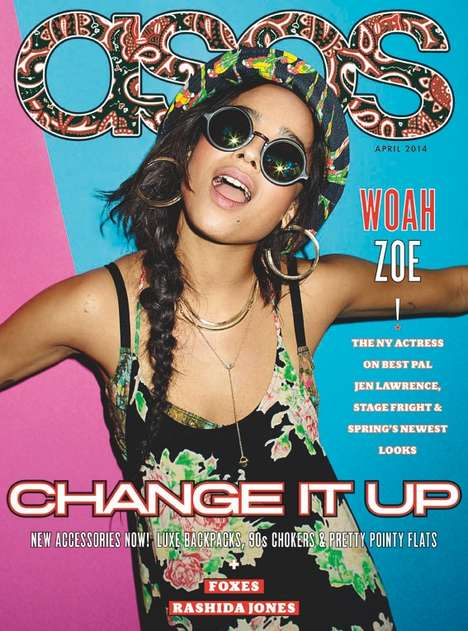 Vibrantly Retro Celeb Editorials - The ASOS Magazine April 2014 Cover Shoot Stars Zoe Kravitz
