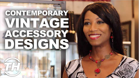 Contemporary Vintage Accessory Designs - Dorly Designs Put a Modern Twist On Jewelry Designs