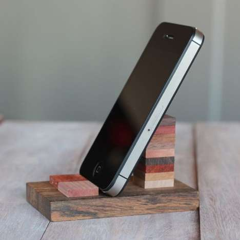 Timber DIY Mobile Stands - This Wooden Cell Phone Stand is Perfect for Tech-Savvy Enthusiasts