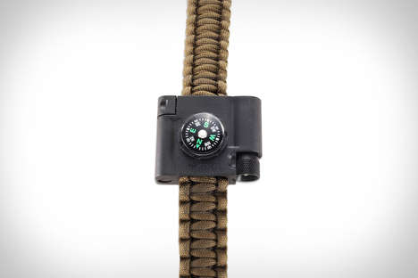 Multitool Paracord Wristlets - The CRKT Survival Bracelet Accessory is a Chic and Practical Design