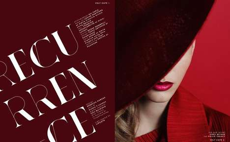 Scarlet Beauty Editorials - The Volt Magazine February 2014 Photoshoot Stars Tessa Antifave