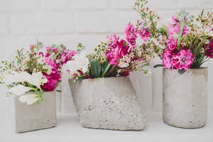 These DIY Cement Centerpieces Help Create Customized Contemporary Looks