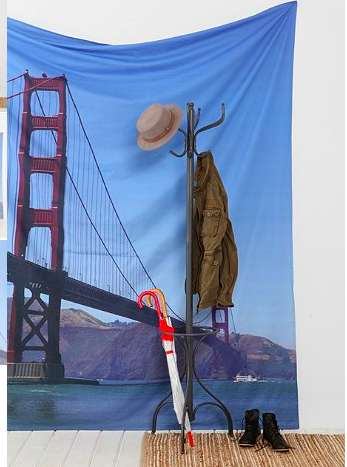 Iconic Scenery Curtains - Feel Like You Live in San Francisco with the Golden Gate Bridge Tapestry